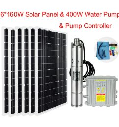 details about solar water submersible deep well dc screw pump system water pump solar panel [ 1000 x 1000 Pixel ]