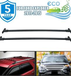 details about roof rack cross bar cargo carrier oem replacement black for 11 15 ford explorer [ 1000 x 1000 Pixel ]
