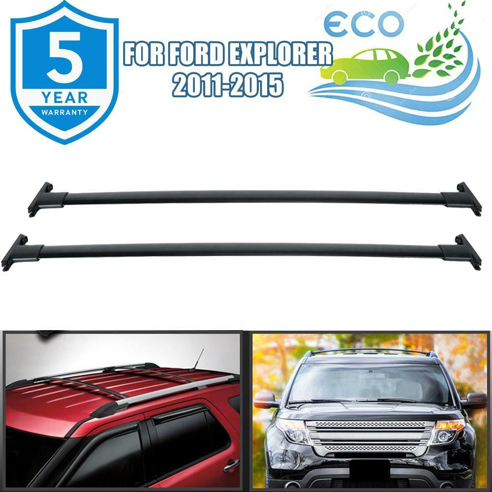 medium resolution of details about roof rack cross bar cargo carrier oem replacement black for 11 15 ford explorer