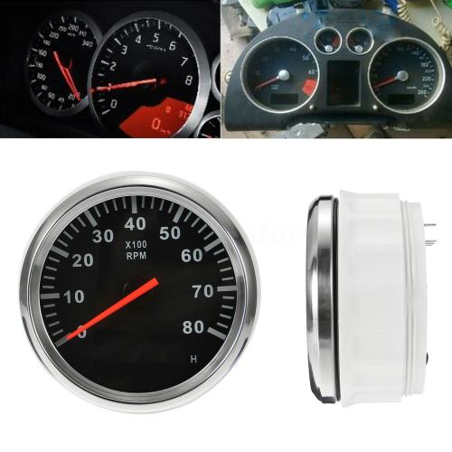 small resolution of details about aus marine tachometer boat tacho meter gauge lcd hourmeter 12v 24v 8000 rpm 85mm