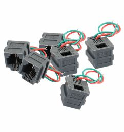 details about 6pcs rj11 6p2c universal adapter female socket wire cable connector w 2 wires [ 1000 x 1000 Pixel ]