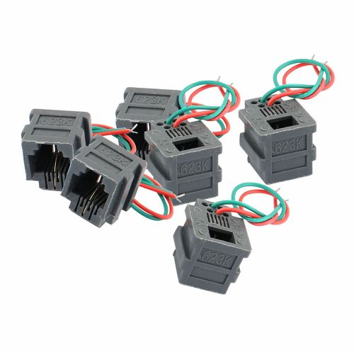 small resolution of details about 6pcs rj11 6p2c universal adapter female socket wire cable connector w 2 wires