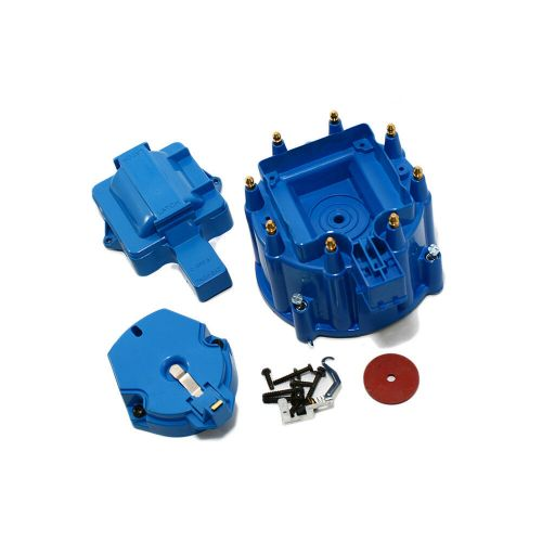 small resolution of details about chevy gm hei blue distributor cap rotor kit sbc 350 400 bbc 454 chevy ford mopar