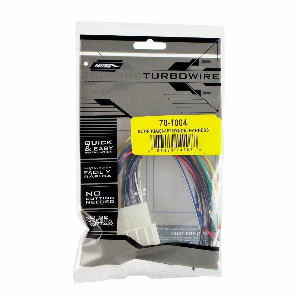 medium resolution of details about metra 70 1004 radio wiring harness for 04 up kia 06 up hyndai 701004