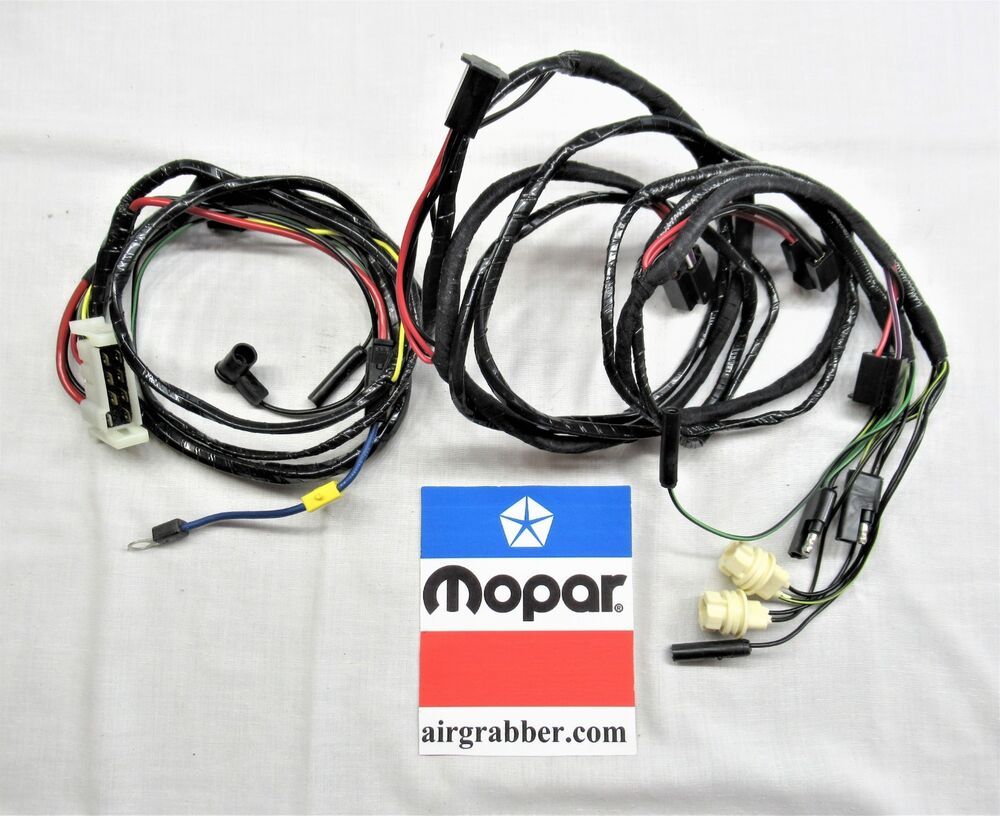 hight resolution of details about 1971 dodge charger r t se 500 super bee forward headlight harness