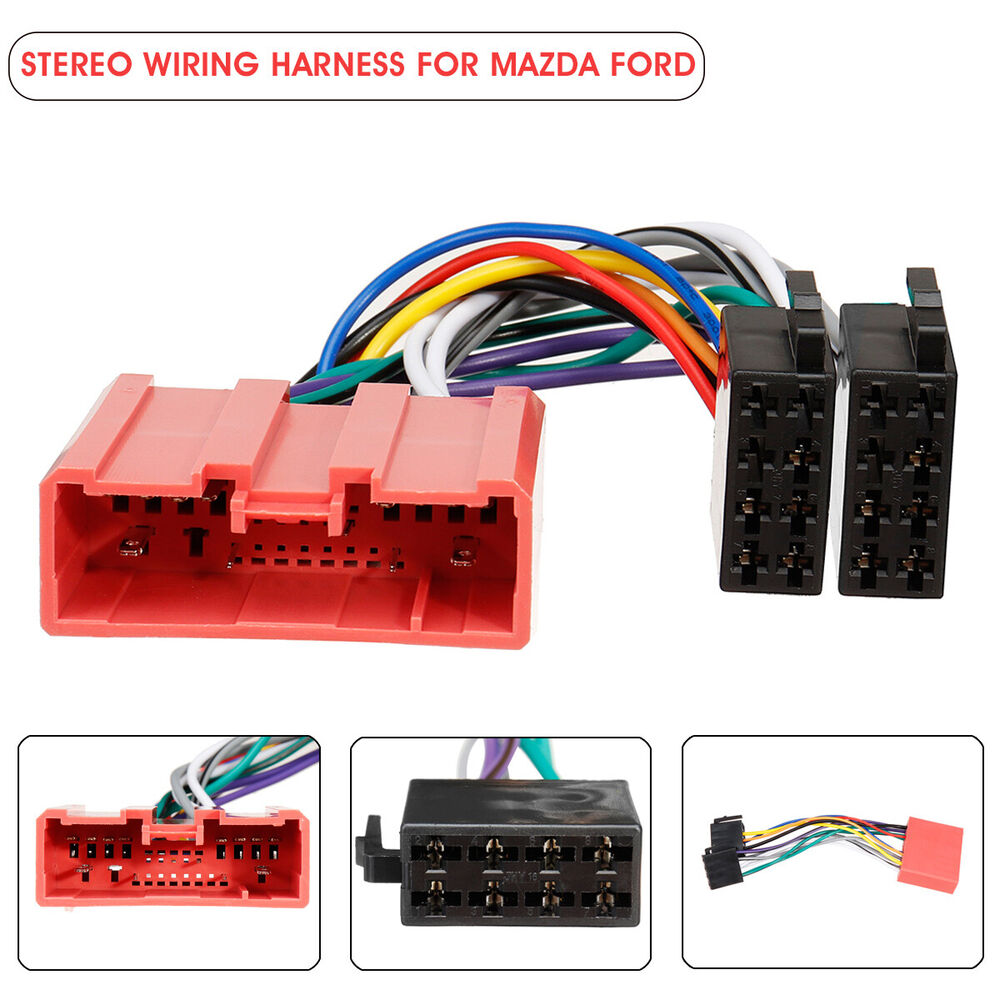 medium resolution of details about car stereo radio iso wiring harness loom adaptor connector cable for mazda ford
