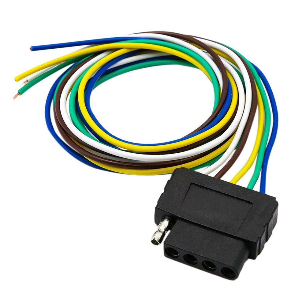 hight resolution of details about 5pin flat plug wire wiring harness connection kit for trailer boat car rv us