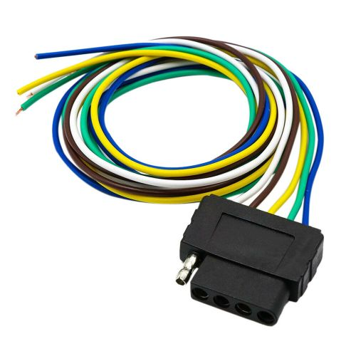 small resolution of details about 5pin flat plug wire wiring harness connection kit for trailer boat car rv us