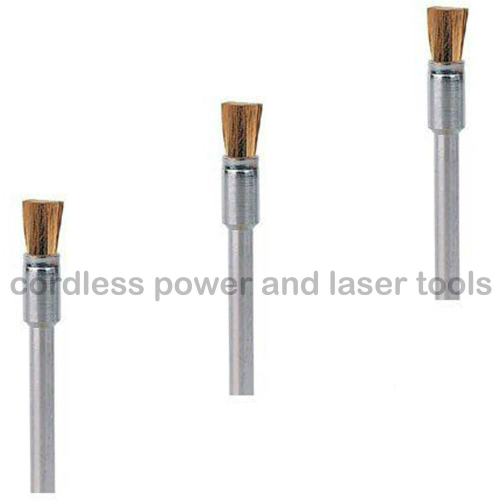 Dremel 537 3 x 3.2mm Brass End Shape Cleaning Brush for