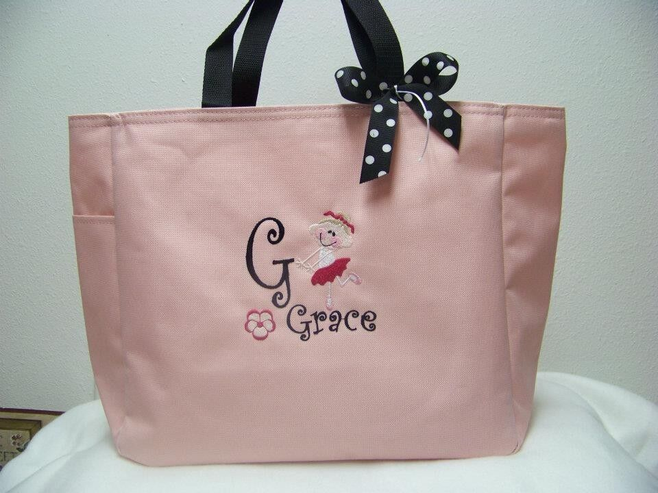 Dance Jazz Tap Ballet Tote Bag PERSONALIZED Colors GIFT