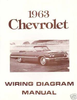 1963 CHEVROLET WIRING DIAGRAM MANUAL | eBay