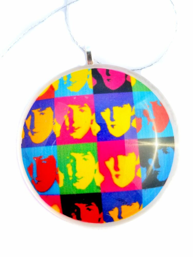 Andy Warhols The Beatles 2 Round Glass Christmas
