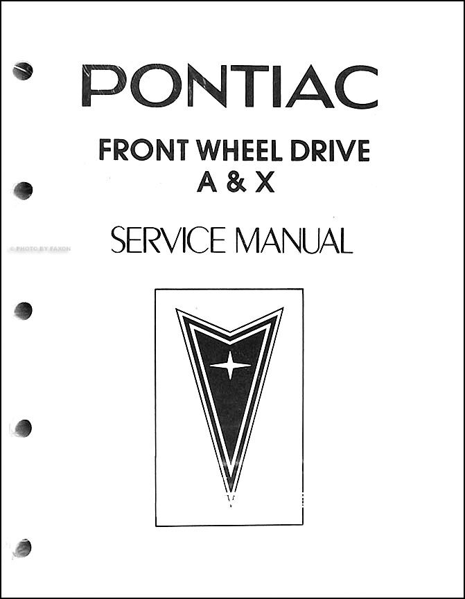 1983 Pontiac Phoenix and 6000 Looseleaf Shop Manual 83