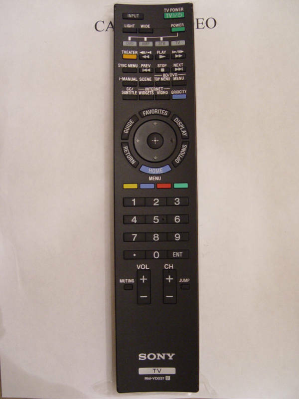 SONY RM-YD037 REMOTE CONTROL PART # 1-487-711-11 For KDL