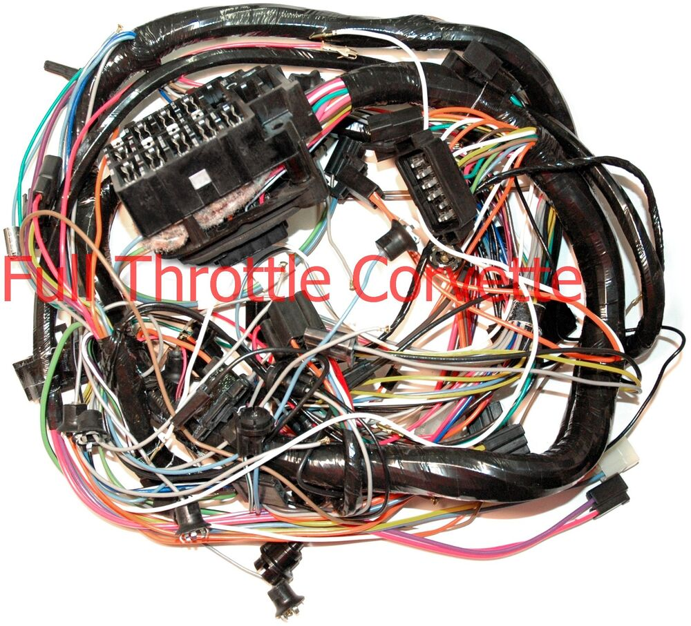 1963 Corvette Engine Wiring Harness Without A C Ebay