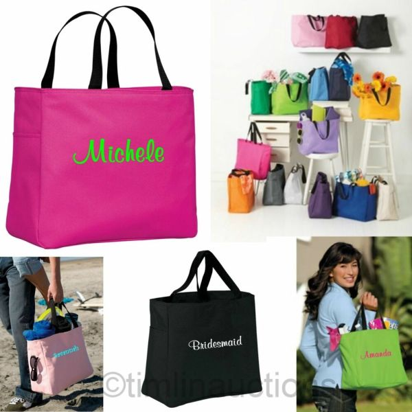 13 Bridesmaid Gift Bags Monogrammed Personalized Tote Bag