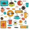 Cafe 32 big wall stickers coffee cup java kitchen room decor decals
