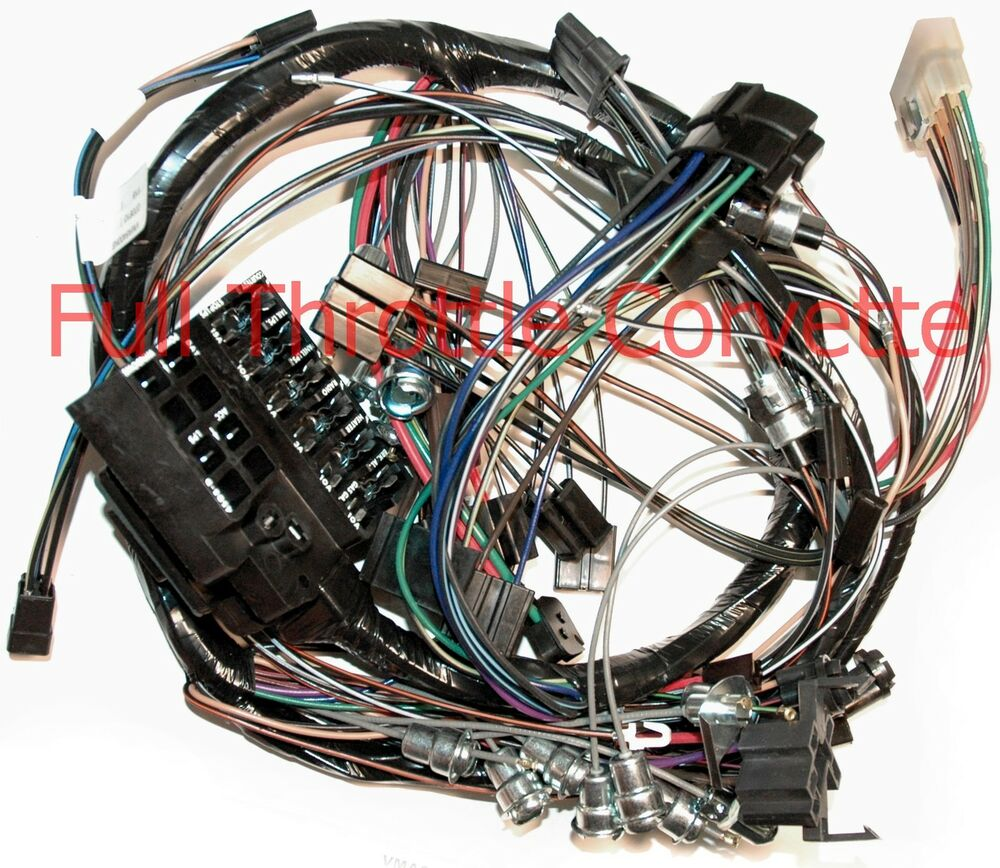 64 Corvette Dash Wiring Harness Without Back Up