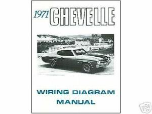 1971 71 CHEVELLE EL CAMINO WIRING DIAGRAM MANUAL | eBay