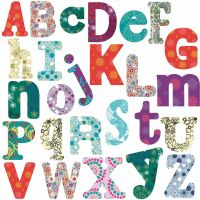 Boho Alphabet BiG Room Decor Wall Stickers Vinyl Removable ...