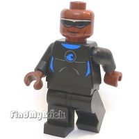 M017A Lego Minifigure Power Man with Blue Wetsuit Outfit