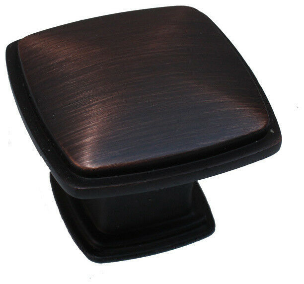Cabinet Drawer Square Knobs ku091 Brushed Oil Rubbed