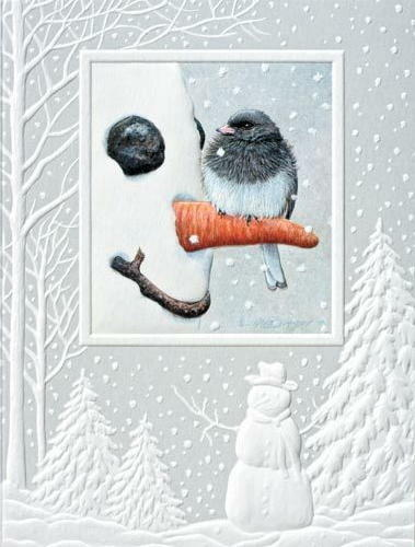 CHRISTMAS CARDS NOSEY JUNCO Pumpernickel Press MADE