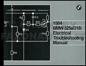 1984 BMW 325e 318i Electrical Troubleshooting Manual