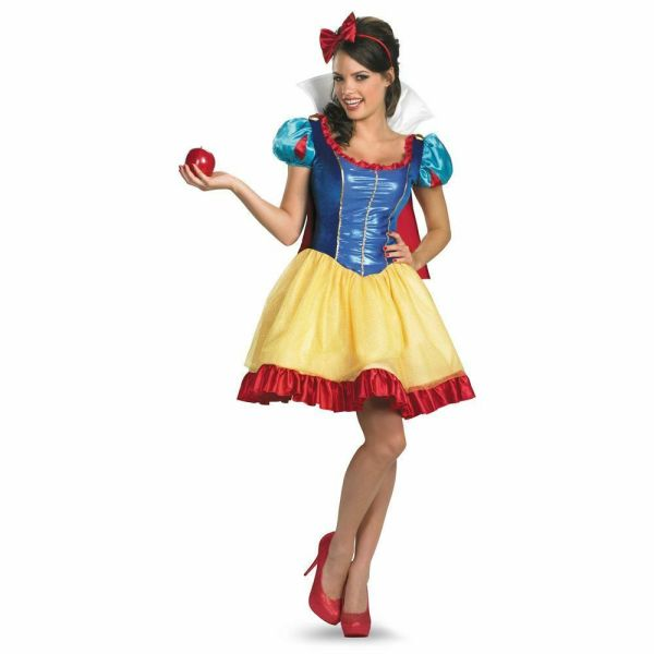 Adult Disney Fairy Tale Princess Seven Dwarf Sassy Sexy Snow White Dress Costume