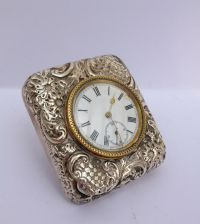 Vintage Silver Table Clock 1911
