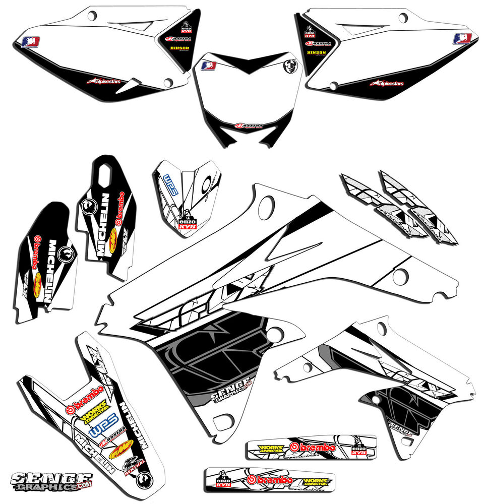 2007 RMZ 450 GRAPHICS KIT SUZUKI RMZ450 07 DECO DECALS