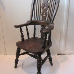 Diy Painted Windsor Chairs Tufted For Sale Ash & Elm High Back Child's Antique Style Chair Free Uk Postage | Ebay