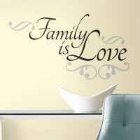 New FAMILY IS LOVE WALL DECALS Black Room Stickers Room ...