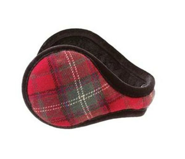 Women Plaid Holiday Design Color Red Ear Warmers