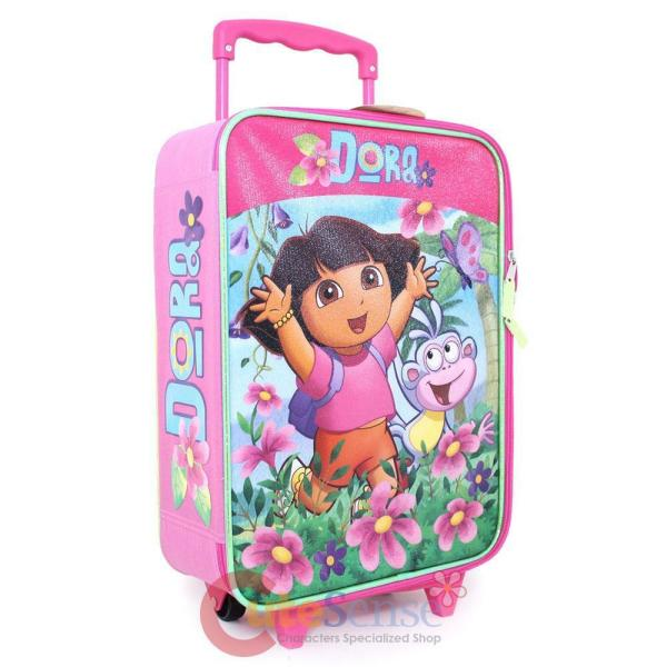 "Dora Explorer Large Roller Backpack 16"" Rolling Bag"