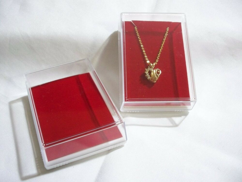 Clear Plastic Cover Display Showcase Jewelry Gift Box Fits