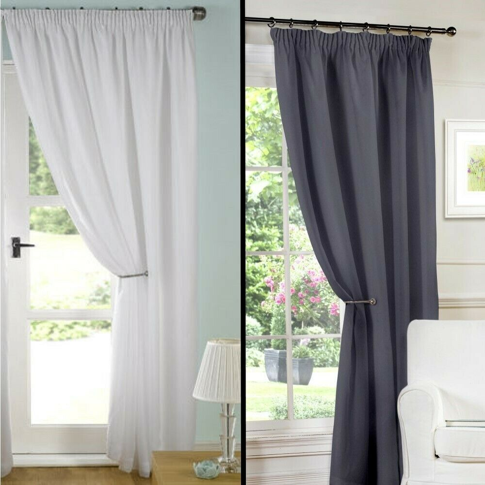 Voile Curtains Net Curtains Lined Curtains & Panels EBay UK