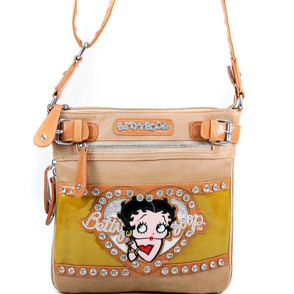 Betty Boop Women Faux Leather Messenger Crossbody Bag Day