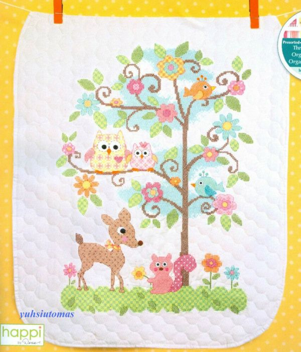 Dimensions Stamped Cross Stitch Kit - Happi Tree Baby