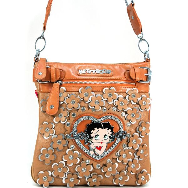 Betty Boop Women Leather Messenger Crossbody Bag Purse