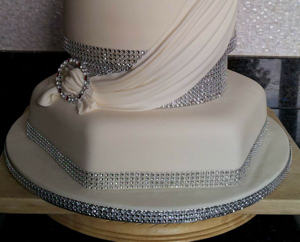 Diamante Rhinestone Effect Band Ribbon Cake Trim Wedding