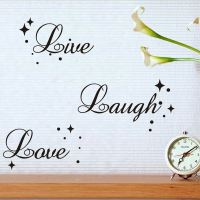 Live Laugh Love Quote Star Bubble Wall Art Vinyl Decal ...