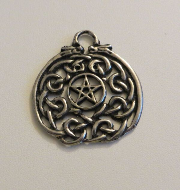 Pentacle Pendant Charm Withceltic Knotwork Pagan Wicca