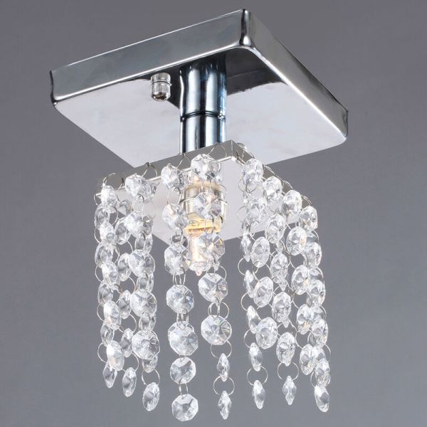 Crystal Chandelier Flush Mount Light