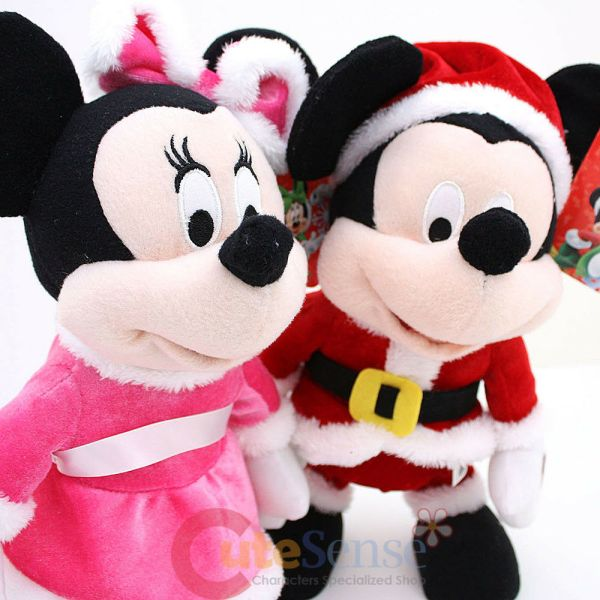 Disney Mickey Minnie Mouse Animated Christmas Dancing Sing Song Plush Doll