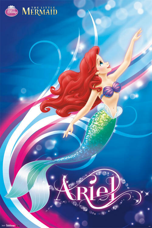 The Little Mermaid Ariel Princess Disney Movie Poster