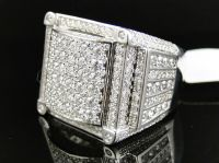 Real Mens High End Round Cut Vs Invisible XL Diamond Pinky ...