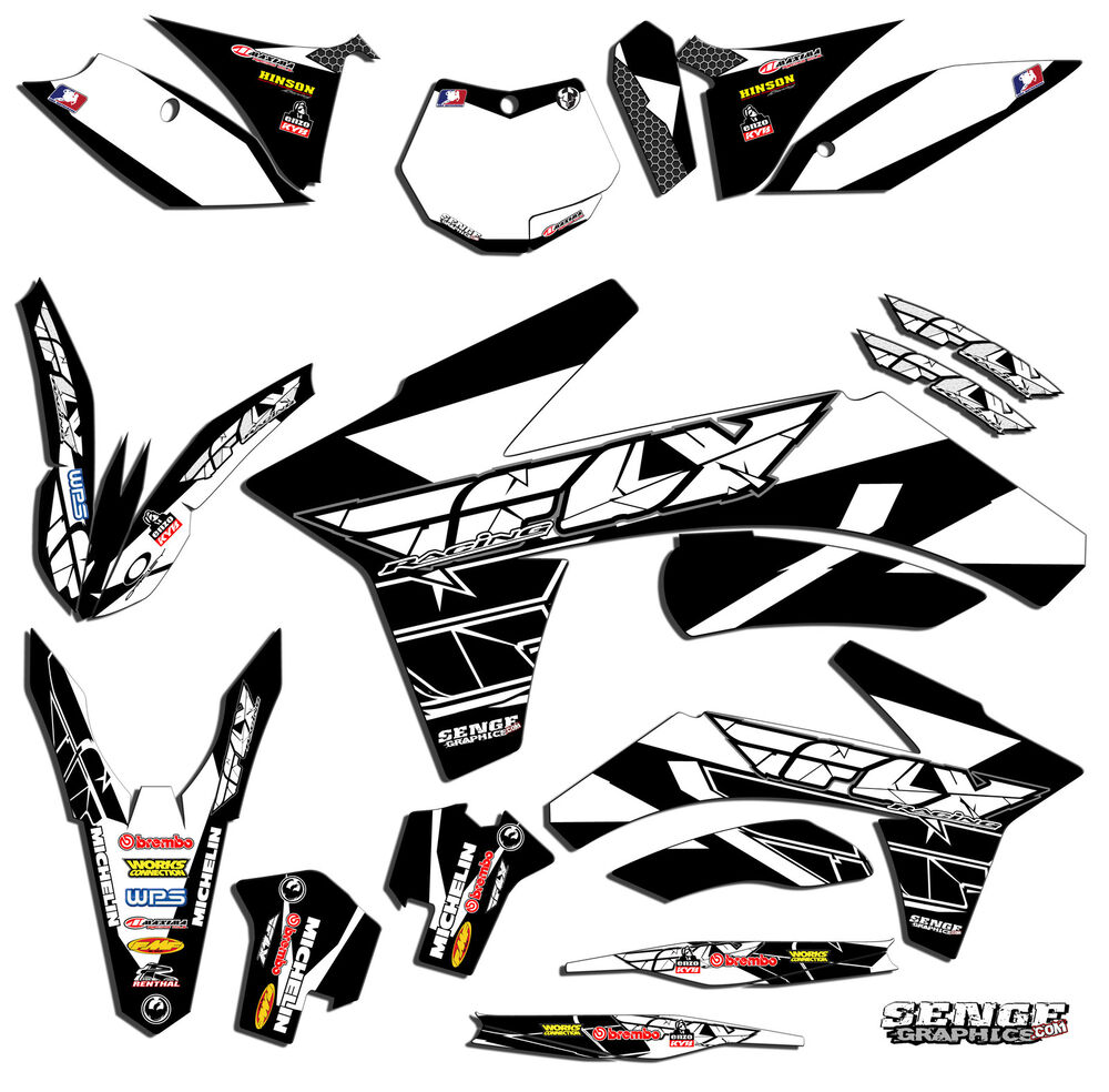 2005 2006 2007 KTM EXC 300 400 450 525 GRAPHICS KIT DECO