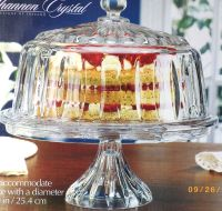 Shannon CRYSTAL GLASS Domed CAKE PLATE Punch Bowl