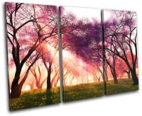 Cherry Blossom Landscapes TREBLE CANVAS WALL ART Picture ...